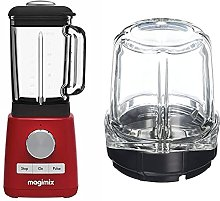 Magimix 11613 Le Blender, Red Finish & 17654 Mill