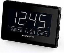 Magnasonic Alarm Clock Radio with USB Charging for