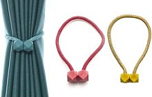 Magnetic Cubic Curtain Clips: Grey/Two