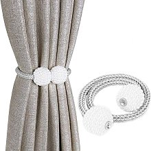 Magnetic curtain tie-silver (2 pieces)