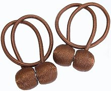 Magnetic Curtain Ties Brown Pair by Coopers of