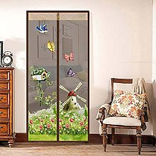 Magnetic Fly Insect Screen Door Polyester Magnetic