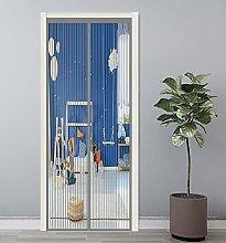 Magnetic Fly Screen Door 70x220cm Walk Through