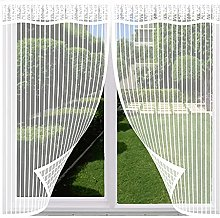 Magnetic Fly Screen Window,100x140cm(White),