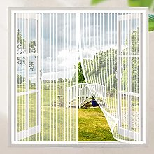 Magnetic Fly Screen Window,105x100cm(White),
