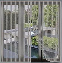 Magnetic Fly Screen Window, 110x125cm(Grey), Anti