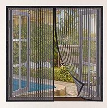Magnetic Fly Screen Window,115x110cm(Black),