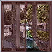 Magnetic Fly Screen Window, 115x150cm(Brown), Anti