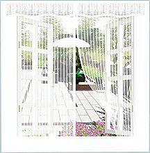 Magnetic Fly Screen Window,120x120cm(White), Mesh