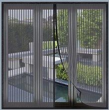 Magnetic Fly Screen Window, 125x200cm(Black), Anti