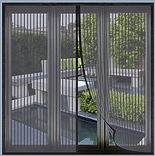Magnetic Fly Screen Window, 160x180cm(Black), Anti