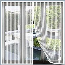Magnetic Fly Screen Window, 170x205cm(White), Anti