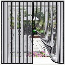Magnetic Fly Screen Window,180x200cm(Black), Mesh