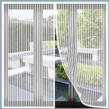 Magnetic Fly Screen Window, 85x115cm(White), Anti