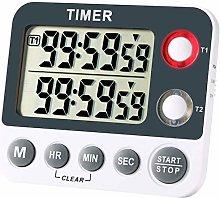 Magnetic Kitchen Timer Clock – Dual Timer
