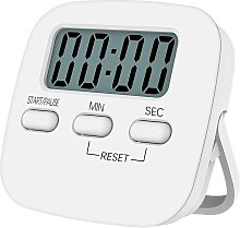 Magnetic kitchen timer with large LCD screen, with