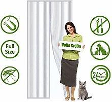 Magnetic Screen Door 100x235cm, Mesh Fly Curtain,