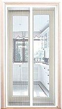 Magnetic Screen Door 140x205cm, Mesh Fly Curtain,