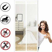 Magnetic Screen Door, Mesh Fly Curtain,