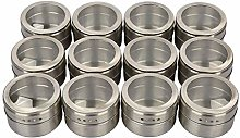 Magnetic Spice Jars, Stainless Steel Portable