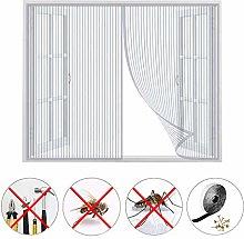 Magnetic Window Screen, Window Mesh Fly Curtain,