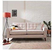 Magnus Fabric 3 Seater Sofa
