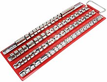 MAGT Socket Rack, Plastic and Stainless Steel Red