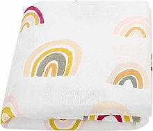 MAHALAXMI Baby Blanket Rainbow Printed Plain Tulle