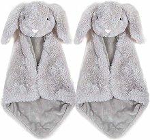MAHALAXMI Baby Safety Blanket Gray Bunny Rabbit