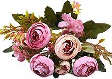 Maheegu 1 Bouquet Fake Flowers Vintage Artificial