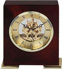 Mahogany & Gold Piano Wood Mantel Clock Skeleton