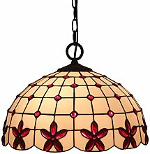 MAIDEHAO Tiffany Style Hanging Lamp Stained Glass