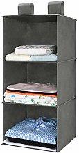 MaidMAX 3-Shelf Fabric Hanging Shelves Organiser