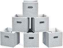 MaidMAX Fabric Storage Box, Set of 6 Foldable