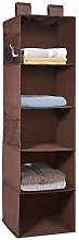 MaidMAX Hanging Wardrobe Storage, 5 Shelves Heavy