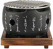 Maifa Japanese Tabletop BBQ Grill, Portable Round
