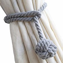 MAIKEHOME Curtain Tieback, A Pair of Hand Knitting
