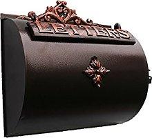 Mailbox Horizontal Cylinder Aluminium Wall Letter