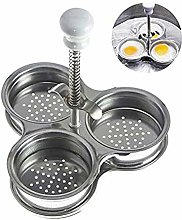 MAILIER Poached Egg Pan Maker,Stainless Steel 3