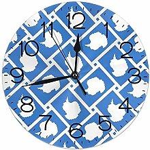 Mailine Wall Clock Antarctica Flag Weave