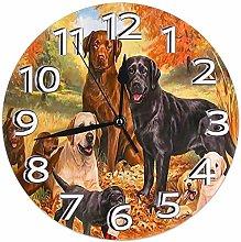 Mailine Wall Clock Cute Labrador Retriever Dog