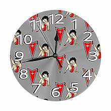 Mailine Wall Clock Pontiac Betty Boop Round Clock