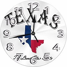 Mailine Wall Clock Texas Lone Star State Round
