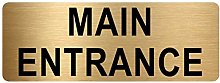 Main Entrance Sign-TEXT ONLY-Brushed Gold