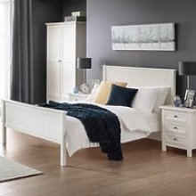 Maine White Wooden Bed Frame - 4ft Small Double