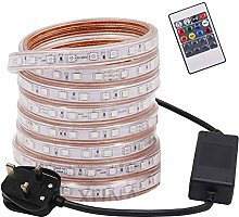 Mains RGB LED Strip Lights with Remote Controller,