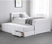 Maisie White Wooden Guest Bed Frame - 3f Single