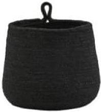Maison Nomade - Black Seagrass Hanging Basket -