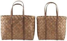 Maison Nomade - Medium Pine Wood Basket - pinewood