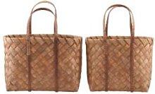 Maison Nomade - Small Pine Wood Basket - pinewood